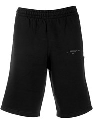 Off White Bermuda Shorts Black