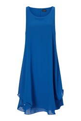 James Lakeland Sleeveless Wave Hem Dress Royal