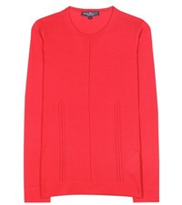 Salvatore Ferragamo Cashmere And Silk Sweater Red