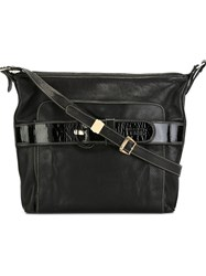 Gianfranco Ferre Vintage Buckle Strap Shoulder Bag Black