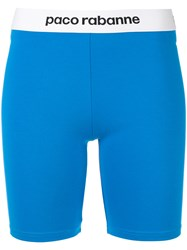 Paco Rabanne Fitted Shorts Blue