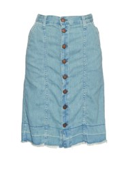 Current Elliott The Short Sally Denim Skirt