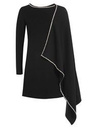 Mcq By Alexander Mcqueen Dress With Embellished Cape Detail Black