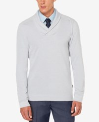 Perry Ellis Men's Almont Shawl Collar Sweater Alloy Heather