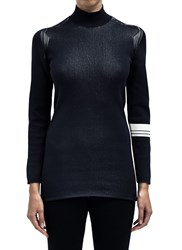Y 3 Womens Roll Neck Knitted T Black