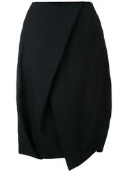 Enfold Tulip Shape Midi Skirt Black