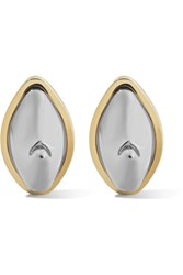 Givenchy Gold And Silver Tone Earrings One Size