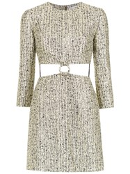 Spacenk Nk Cut Out Detail Jacquard Dress Yellow And Orange