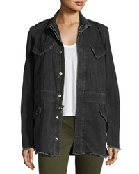 Rta Denim Nicolas Long Field Jacket Dark Gray Drk Gry