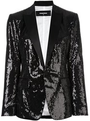 Dsquared2 'London Peak' Sequined Blazer Black