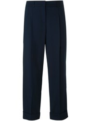 Michael Kors Cropped Tailored Trousers Blue