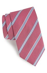 Boss Men's Stripe Silk Tie Red