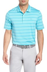 Vineyard Vines Swindell Stretch Stripe Polo Turquoise