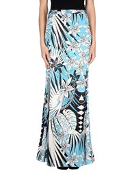 Just Cavalli Skirts Long Skirts Women Sky Blue