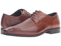 Stacy Adams Faxon Moc Toe Oxford Cognac Men's Lace Up Moc Toe Shoes Tan