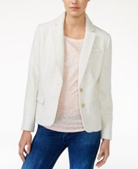 Maison Jules Metallic Detail Boucle Blazer Only At Macy's Egret Combo