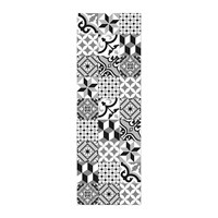 Hibernica Collection Ceramic Vinyl Floor Mat Hib18239 Black And White
