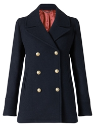 Jigsaw London Coating Pea Coat Navy