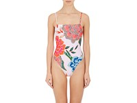 Mara Hoffman Women's Floral One Piece Swimsuit Pink