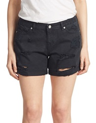 Dittos Tommy Distressed Boyfriend Fit Shorts Black