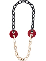 Erika Cavallini Semi Couture Link Chain Necklace Black