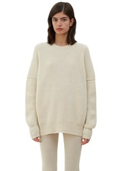 Lauren Manoogian Oversized Fisherman Knit Sweater Naturals