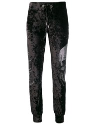 Philipp Plein Skull Track Trousers Blue