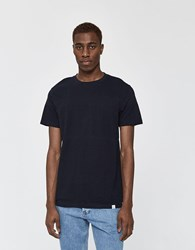 Norse Projects S S Niels Bubble Tee In Dark Navy
