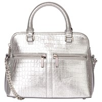 Modalu Pippa Leather Chain Across Body Bag Silver