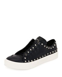 Alexander Mcqueen Studded Leather Low Top Sneaker Black