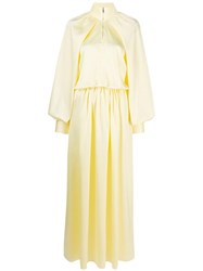 Jourden Satin Windbreaker Dress Yellow