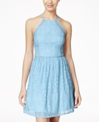 City Triangles City Studios Juniors' Lace Halter Fit And Flare Dress