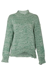 Rosie Assoulin Paperbag Sweater Green