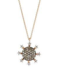 Kismet By Milka Eclectic Circle Star Pendant Necklace With Diamonds