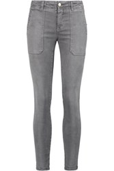 Current Elliott The Conductor Mid Rise Skinny Jeans Gray