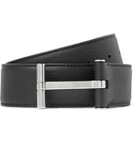 Tom Ford 4Cm Black Full Grain Leather Belt Black