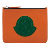 Moncler Small Oversized Logo Pouch Orange