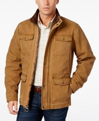 G.H. Bass And Co. Men's Four Pocket Field Jacket Worker Brown