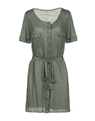 Fine Collection Short Dresses Military Green
