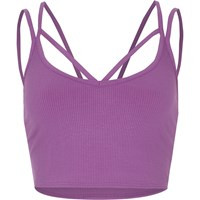 River Island Purple Strappy Ribbed Crop Top