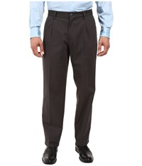 Dockers Signature Stretch Relaxed Pleated Front Steelhead Men's Casual Pants Brown