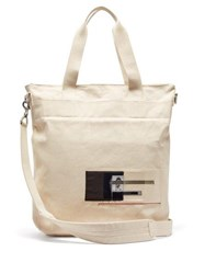 Rick Owens Drkshdw Photographic Patch Canvas Tote Beige