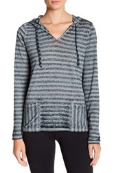Threads For Thought Mariha Striped Hoodie Green