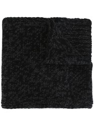 Dolce And Gabbana Knit Patterned Scarf Black