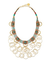 Turquoise Beaded Chain Necklace Devon Leigh