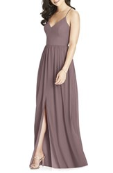 a050efe133afb Dessy Collection 'S Spaghetti Strap Chiffon Gown French Truffle
