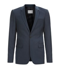 Sandro Notch Sky Suit Jacket Male Blue