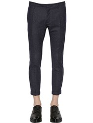 Dsquared 15Cm Skinny Pinstriped Wool Cady Pants