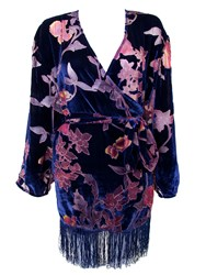 Playful Promises Francois Tassled Robe Blue