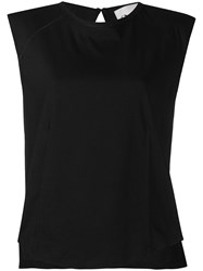 8Pm Exposed Seams Tank Top Black